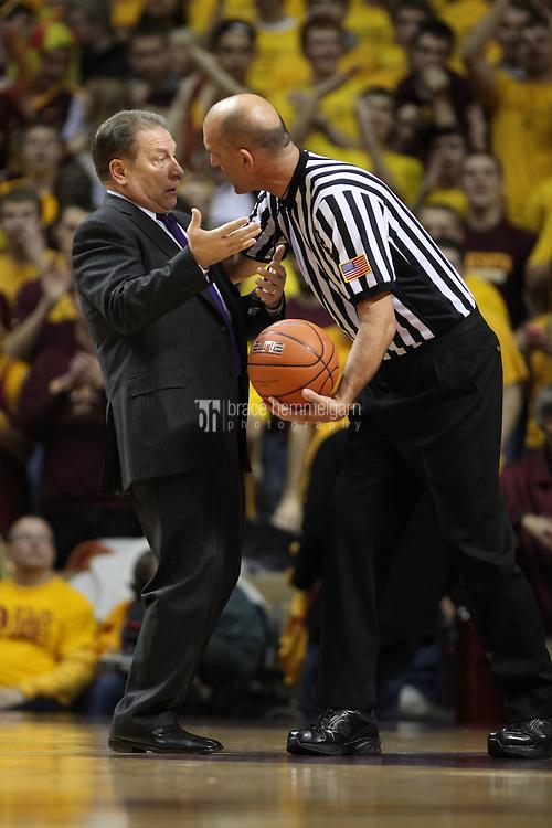 Dec 31, 2012; Minneapolis, MN, USA; Michigan State Spartans head coach Tom Izzo against the Minnesota Golden Gophers at Williams Arena. Minnesota defeated Michigan State 76-63. Mandatory Credit: Brace Hemmelgarn
