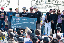 Invited New Mexican BF11 builder JP Rodman wins 3rd place and $2,000 for his Volkswagon trike at the Born Free Motorcycle Show (BF11) at Oak Canyon Ranch, Silverado  CA, USA. Saturday, June 22, 2019. Photography ©2019 Michael Lichter.