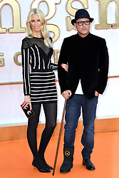 Matthew Vaughn and Claudia Schiffer attending the Kingsman: The Golden Circle World Premiere held at Odeon and Cineworld Cinemas, Leicester Square, London. Picture date: Monday 18th September 2017. Photo credit should read: Doug Peters/Empics Entertainment