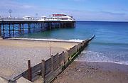 AMFXF9 Cromer pier and beach Norfolk England