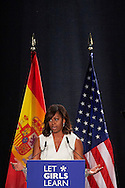 Michelle Obama attended 'Let Girls Learn' initiative, at Matadero on June 30, 2016 in Madrid