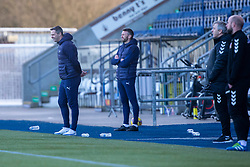 20MAR21 Falkirk's head coaches David McCracken and Lee Miller. Falkirk 2 v 0 Montrose, Scottish Football League Division One game played 20/3/2021 at The Falkirk Stadium.