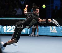 Barclays ATP World Tour Finals 2012 ..Novak Djokovic (SRB) beat Roger Federer (SUI)  7:6  7:5 in the Final..Images taken by Richard Washbrooke.