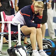 Kim Clijsters, Belgium, winning the Women's Singles Final  against Caroline Wozniacki, Denmark at  the US Open Tennis Tournament at Flushing Meadows, New York, USA, on Sunday, September 13, 2009. Photo Tim Clayton