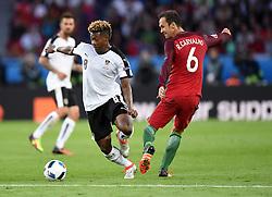 David Alaba of Austria is fouled by Ricardo Carvalho of Portugal  - Mandatory by-line: Joe Meredith/JMP - 18/06/2016 - FOOTBALL - Parc des Princes - Paris, France - Portugal v Austria - UEFA European Championship Group F