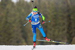 Iryna Kryuko (BLR) during Women 15km Individual at day 5 of IBU Biathlon World Cup 2018/19 Pokljuka, on December 6, 2018 in Rudno polje, Pokljuka, Pokljuka, Slovenia. Photo by Ziga Zupan / Sportida