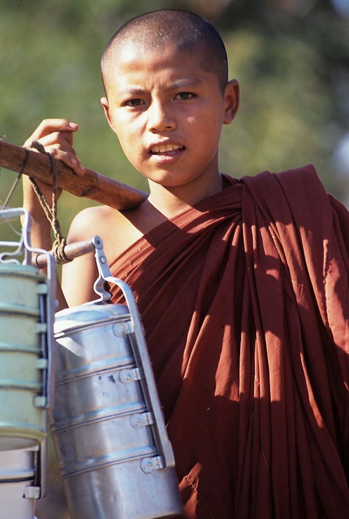 Young Buddhist Monk, Magwe Division, Central Myanmar