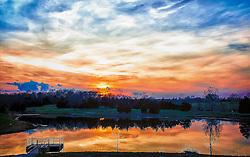 A Spring Sunset at Broemmelsiek Park