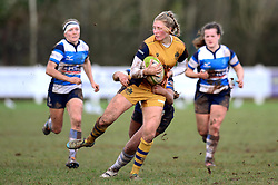 Lottie Holland of Bristol Ladies is tackled - Mandatory by-line: Dougie Allward/JMP - 11/12/2016 - RUGBY - Cleve RFC - Bristol, England - Bristol Ladies v Darlington Mowden Park Ladies - RFU Women's Premiership