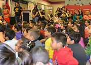 Students watch a Black History Program at Lyons Elementary, February 19, 2014.