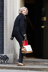 © Licensed to London News Pictures. 10/03/2015. London, UK. Theresa May arrives for a cabinet meeting at 10 Downing Street in London on Tuesday 10th March 2015. Photo credit : Vickie Flores/LNP