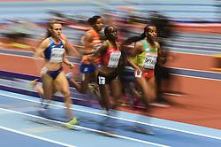 March 2, 2018 - Birmingham, England, United Kingdom - Dawit Seyaum ofEthiopia and at 1500 meter semi final at World indoor Athletics Championship 2018, Birmingham, England on March 2, 2018. (Credit Image: © Ulrik Pedersen/NurPhoto via ZUMA Press)