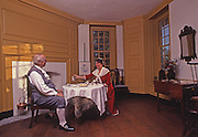 Dining Room, Colonial Dress, 1744 Peter Wentz Farmstead, Montgomery Co., PA