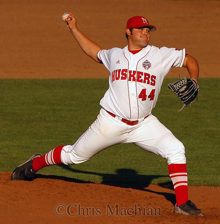 6/17/05 Omaha, NE Nebraska's Joba  Chamberlain at the College World Series at Rosenblatt Stadium..(Chris Machian/Prairie Pixel Group)