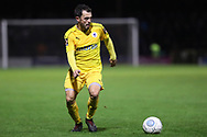 Chester midfielder Craig Mahon (7) in action during the Vanarama National League match between York City and Chester FC at Bootham Crescent, York, England on 13 November 2018.