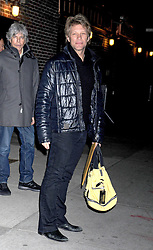 Singer Jon Bon Jovi leaves for The Late Show With David Letterman at the Ed Sullivan Theatre, New York City, US, December 20, 2012. Photo by Imago / i-Images...UK ONLY