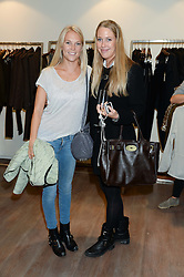Left to right, LADY NATASHA HOWARD and EMILY LOPES at a preview evening of the Leon Max Autumn Winter Collection 2013 held at Leon Max, 229 Westbourne Grove, London W11 on 24th September 2013.