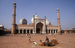 Jami Masjid Mosque in central old Delhi; India; general view,