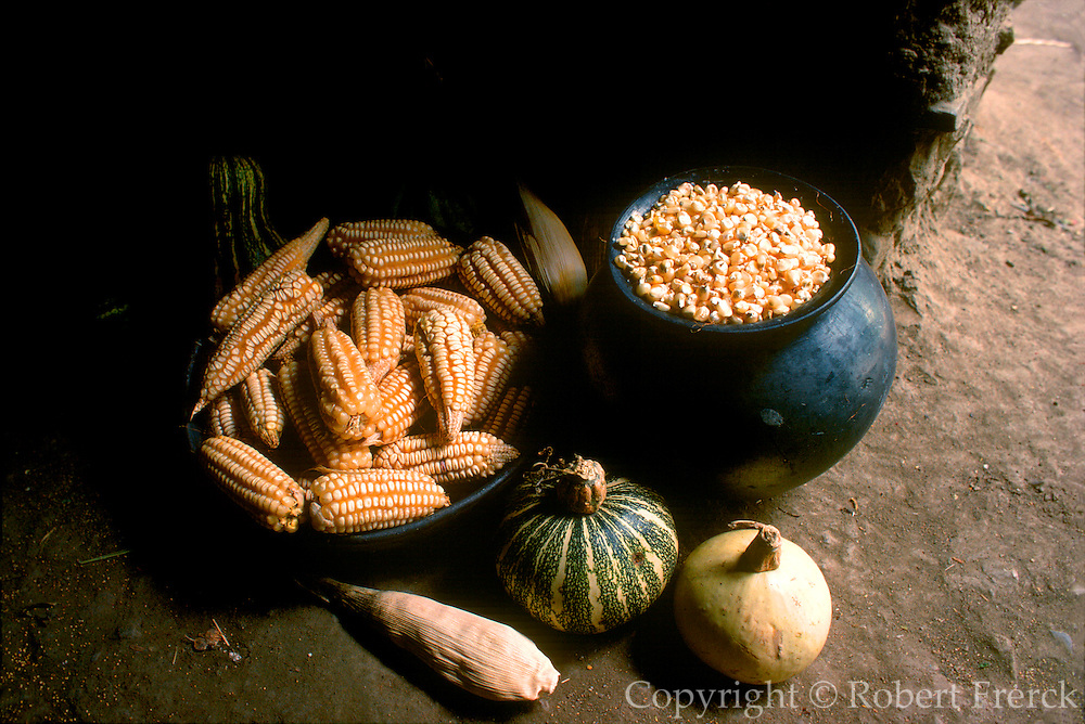 MEXICO, AGRICULTURE Corn and squash from family farm near Oaxaca