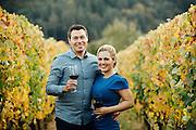 Monique & Jeff's Vineyard Engagement Portrait