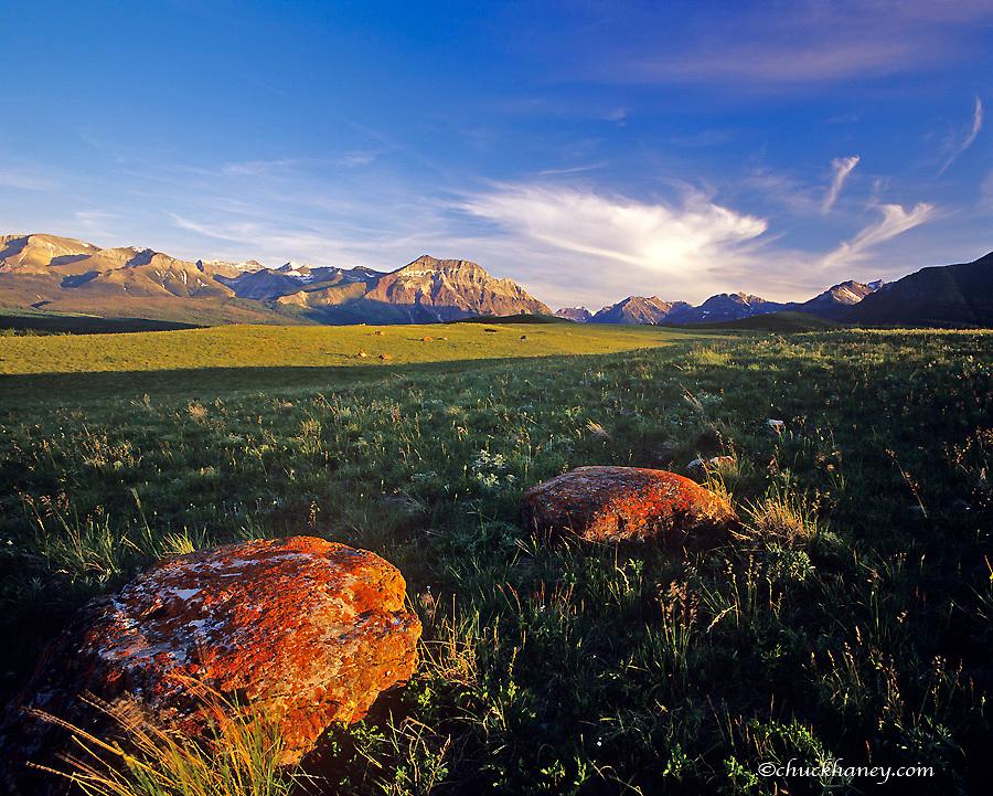 Glacial moraine in Waterton Lakes National Park in Alberta Canada
