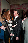 LILY COLE; COLIN FIRTH, Graydon Carter hosts a diner for Tom Ford to celebrate the London premiere of ' A Single Man' Harry's Bar. South Audley St. London. 1 February 2010