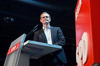 22 MAR 2017, BERLIN/GERMANY:<br /> Michael Mueller, SPD, Reg. Buergermeister Berlin, haelt eine Rede auf dem Neumitgliedertreffen der Berliner SPD, Festsaal Kreuzberg<br /> IMAGE: 20170322-02-092<br /> KEYWORDS: Michael Müller, speech