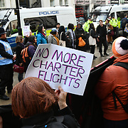 Justice for #Stansted15! Stop the Jamaica Charter Flight!, London, UK