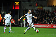 Chico Flores of Swansea city (c). UEFA Europa league match, Swansea city v Valencia at the Liberty Stadium in Swansea on Thursday 28th November 2013. pic by Andrew Orchard, Andrew Orchard sports photography,