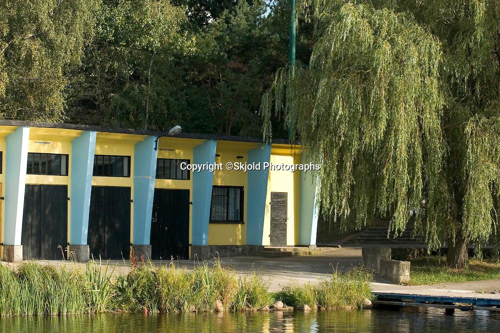 A pavilion in the park.  Rawa Mazowiecka  Central Poland