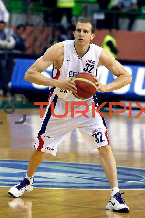 Efes Pilsen's Sinan GULER during their Turkish Basketball league Play Off Final second leg match Efes Pilsen between Fenerbahce Ulker at the Ayhan Sahenk Arena in Istanbul Turkey on Saturday 22 May 2010. Photo by Aykut AKICI/TURKPIX