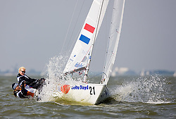 08_002657 © Sander van der Borch. Medemblik - The Netherlands,  May 24th 2008 . Day 4 of the Delta Lloyd Regatta 2008.