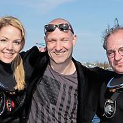 NLD/Amsterdam/20120326 - Presentatie Q-Music en 100 jaar Titanic, Patricia van Liempt, Eddy Zoey en Jeroen van Inkel