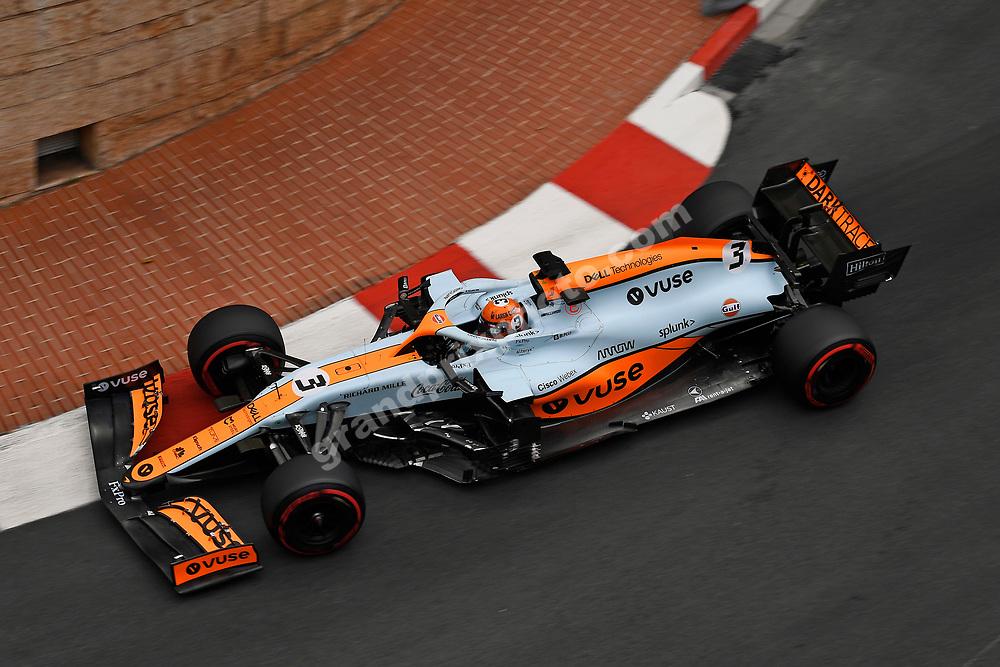 Daniel Ricciardo (McLaren-Mercedes) during qualifying for the 2021 Monaco Grand Prix in Monte Carlo. Photo: Grand Prix Photo