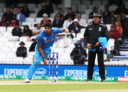 June 8, 2017 - London, United Kingdom - Umesh Yadav of India. during the ICC Champions Trophy match Group B between India and Sri Lanka at The Oval in London on June 08, 2017  (Credit Image: © Kieran Galvin/NurPhoto via ZUMA Press)
