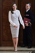 051217 Queen Letizia attends audicences at Zarzuela Palace