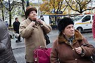 Two women wait on the bus, Krakow, Poland