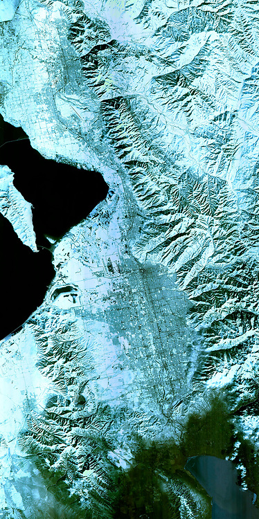 The 2002 Winter Olympics, hosted by Salt Lake City. View of north central Utah that includes all of the Olympic sites. February 8, 2001. Satellite image.