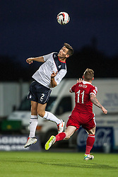 Falkirk's Kieran Duffie and Jonny Hayes.<br /> Falkirk 0 v 5 Aberdeen, the third round of the Scottish League Cup.<br /> ©Michael Schofield.