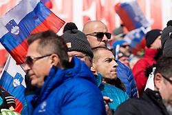 Aleksander Ceferin, president of UEFA during flower ceremony after Men's Slalom race of FIS Alpine Ski World Cup 57th Vitranc Cup 2018, on March 4, 2018 in Kranjska Gora, Slovenia. Photo by Urban Urbanc / Sportida