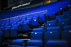 November 11, 2017 - London, England, United Kingdom - View of the seats of the stadium prior to the the Nitto ATP World Tour Finals at O2 Arena, London on November 11, 2017. (Credit Image: © Alberto Pezzali/NurPhoto via ZUMA Press)