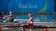 "Rio de Janeiro. BRAZIL    CAN W1X, Carling ZEEMAN  2016 Olympic Rowing Regatta. Lagoa Stadium,<br /> Copacabana,  ""Olympic Summer Games""<br /> Rodrigo de Freitas Lagoon, Lagoa. Local Time 09:33:01  Tuesday  09/08/2016<br /> [Mandatory Credit; Peter SPURRIER/Intersport Images]"