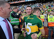 Daithi Casey and James O'Donoghue celebrate in the All-Ireland Football Final  in Croke Park 2014.<br /> Photo: Don MacMonagle<br /> <br /> <br /> Photo: Don MacMonagle <br /> e: info@macmonagle.com