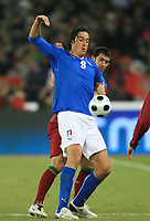 Fotball<br /> Foto: DPPI/Digitalsport<br /> NORWAY ONLY<br /> <br /> FOOTBALL - FRIENDLY GAME 2007/2008 - ITALY v PORTUGAL - 06/02/2008 - LUCA TONI (ITA) / MARCO CANEIRA (POR)<br /> <br /> Italia v Portugal