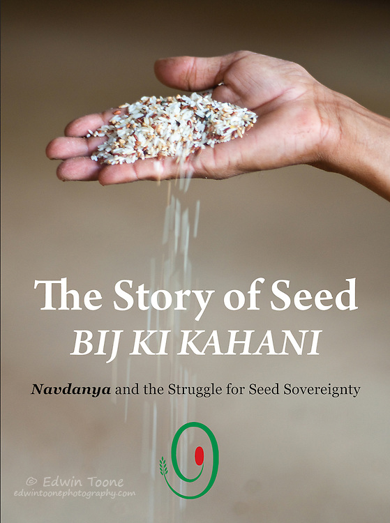 Cover photo for the a revised edition of The Story of Seed Bij Ki Kahani, published by Navdanya Research Foundation for Science, Technology and Ecology in India.