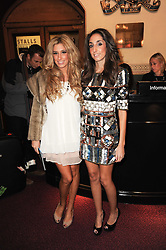 Left to right, singer STACEY SOLOMAN and her sister JEMMA SOLOMAN at the gala opening night of Cirque du Soleil's Varekai at the Royal Albert Hall, London on 5th January 2010.