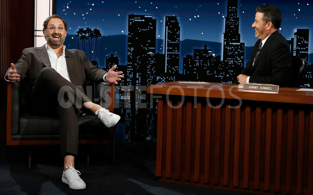 """JIMMY KIMMEL LIVE! - """"Jimmy Kimmel Live!"""" airs every weeknight at 11:35 p.m. EST and features a diverse lineup of guests that include celebrities, athletes, musical acts, comedians and human interest subjects, along with comedy bits and a house band. The guests for Wednesday, October 6 included Daniel Craig (""""No Time To Die""""), Eric Wareheim (""""Foodheim""""), and musical guest X Ambassadors. (ABC/Randy Holmes)<br /> ERIC WAREHEIM"""