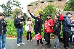 © Licensed to London News Pictures. 03/11/2019. London, UK. Supporters of Ali Milani, the Labour Party General Election candidate area are canvassing Uxbridge & South Ruislip at the start of his campaign. He hopes to defeat British Prime Minister Boris Johnson who is MP for the constituency. Photo credit: Ray Tang/LNP