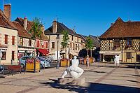 France, Cher (18), Sologne, Aubigny sur Nère, ville des Stuart, route Jacques Coeur // France, Cher (18), Sologne, Aubigny-sur-Nere, the Jacques Coeur road, City of Stuart