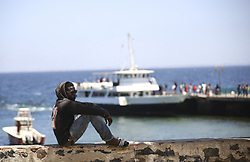 DAKAR, SENEGAL - FEBRUARY 28: A man is seen at the Goree Island known as 'Island of Shame' due to its bad reputation in consequence of being a center of Atlantic slave trade between 15th to 19th century, in Dakar, Senegal on February 28, 2018. Island of Shame is now used as a museum to show colonialism and slavery activities of today's 'civilized' countries such as Portugal, Netherlands, England and France.<br /> <br /> <br /> <br /> <br /> <br /> <br />  Halil Sagirkaya / Anadolu Agency  | BRAA20180308_113 Dakar Sénégal